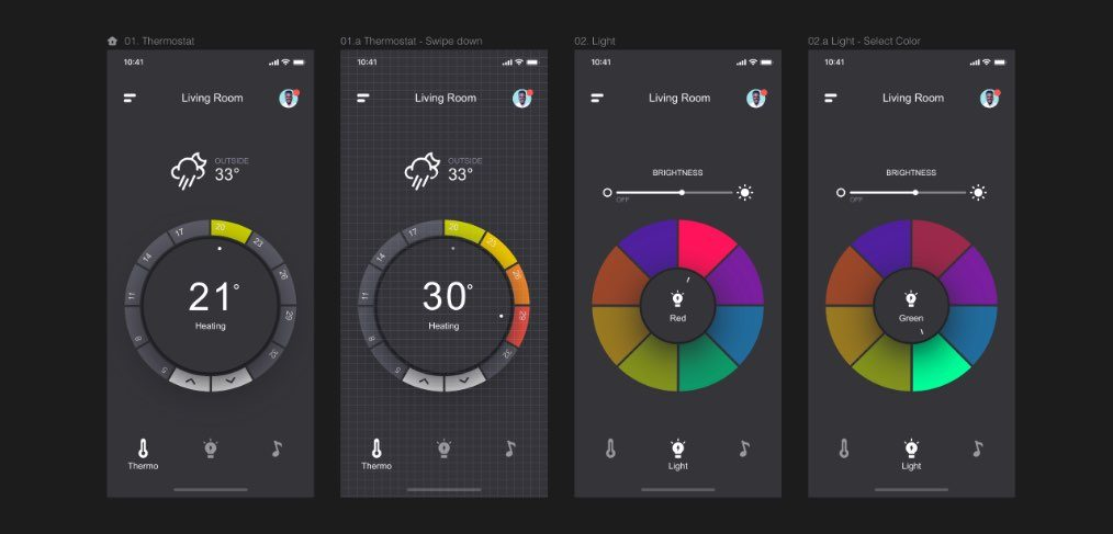 home app concept invision studio