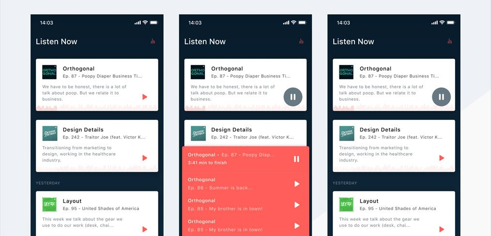 podcast-app-concept-studio