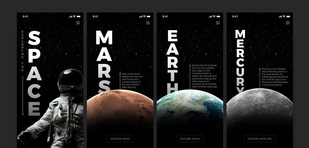 space exploration mobile studio