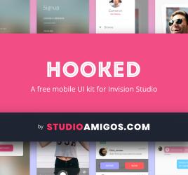 Hooked UI kit Invision Studio