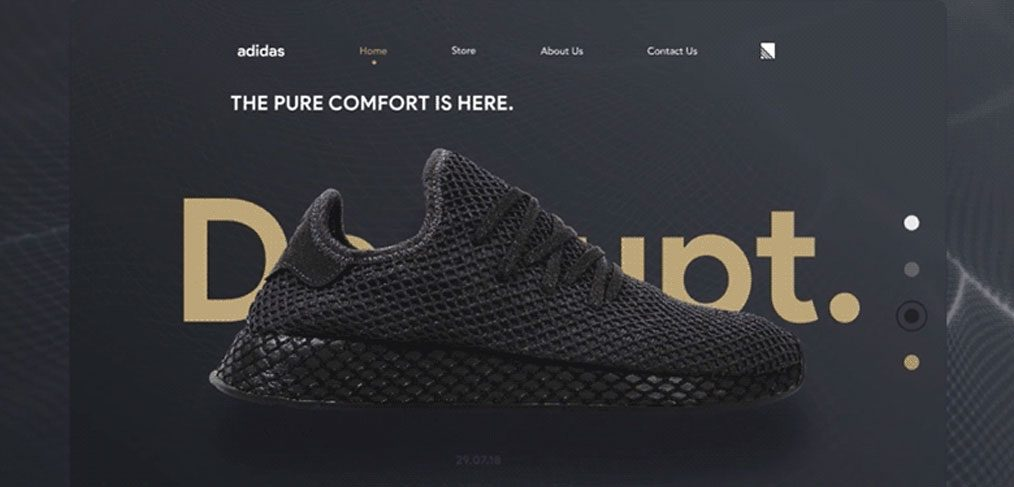 Adidas Landing Page Animation