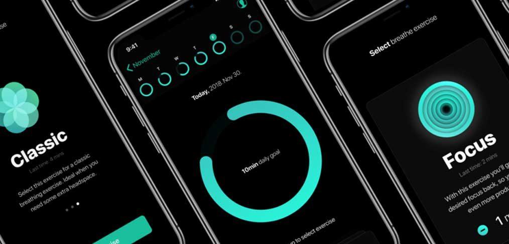 Breathe - iOS app concept template
