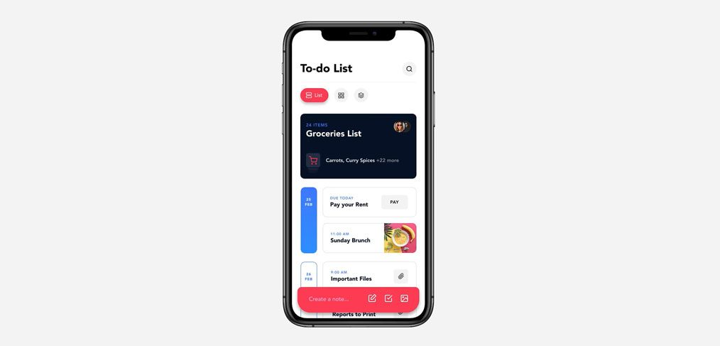 To do list app concept